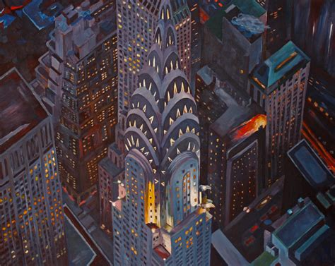 paint nite manhattan quot new york city midtown manhattan with chrysler building