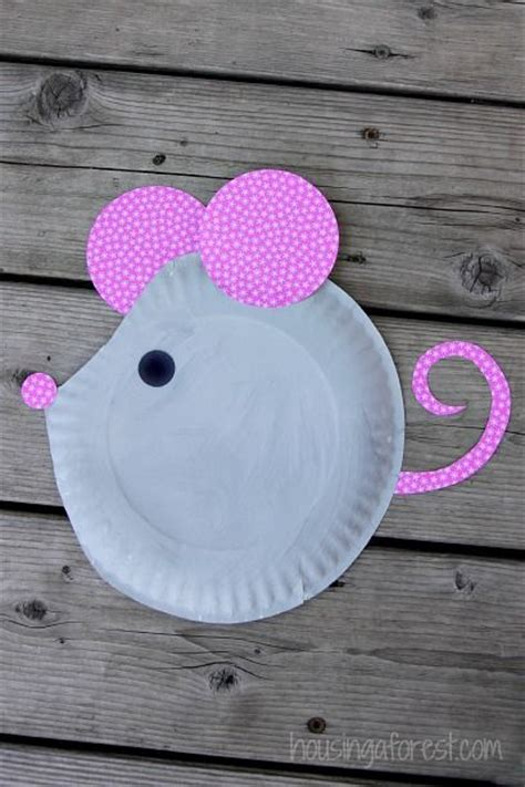 paper plates arts and crafts paper plate mouse easy craft paper plate crafts