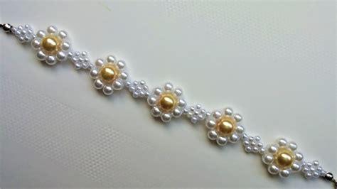 how do i make jewelry diy beaded bracelet tutorial make this flower bracelet