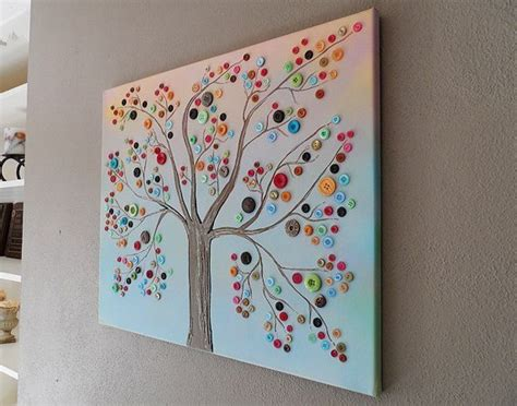 home craft ideas diy crafts for home decor button tree crafts work
