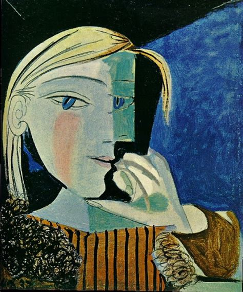 picasso paintings of therese pablo picasso portrait of therese 1937