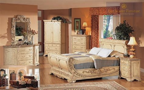 furniture bedroom set best furniture 4 pc b1008 antique beige with marble top