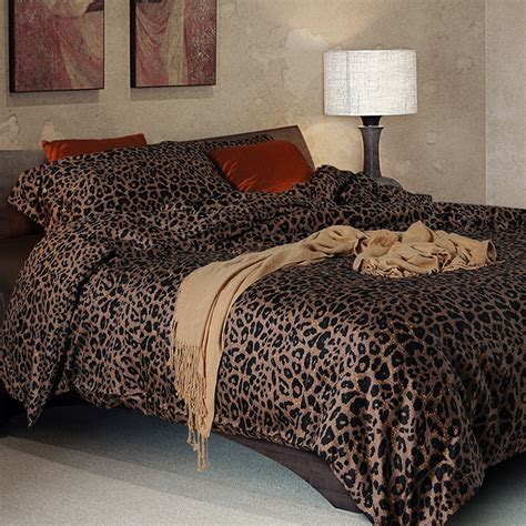 leopard print king comforter set 100 sateen cotton bedding set leopard print duvet cover