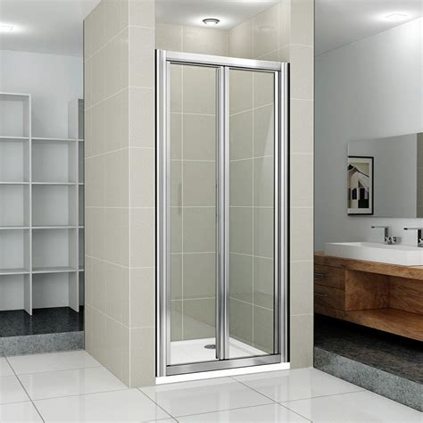 Folding Glass Bath Shower Screen new bifold shower enclosure bathroom walk in cubicle