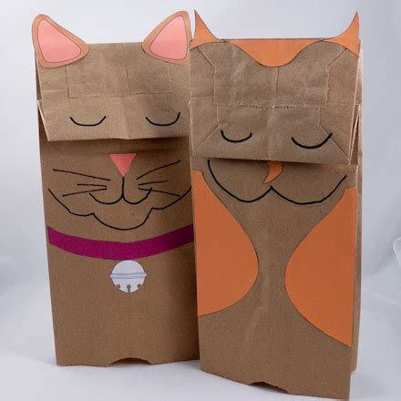 paper bag cat craft 59 paper bag puppets guide patterns