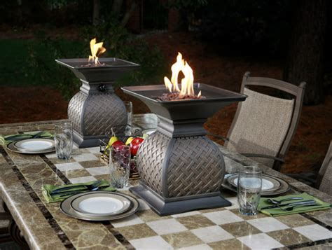 outdoor table centerpieces urns by agio outdoor dining centerpiece ideas