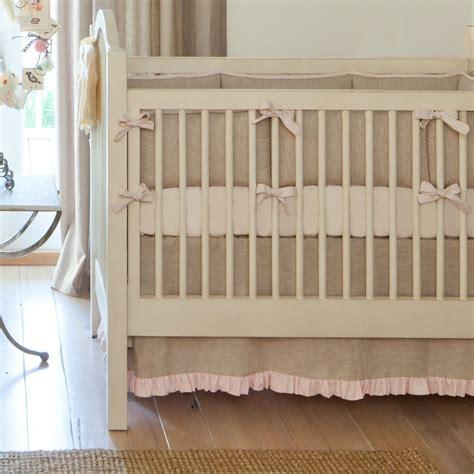 and crib bedding light pink linen crib bedding baby crib bedding