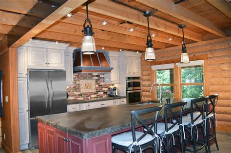 rustic kitchen pendant lights rustic kitchen with pendant light by studio76 zillow digs