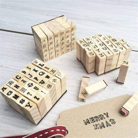 rubber st letters and numbers miniature alphabet sts set by stomp sts
