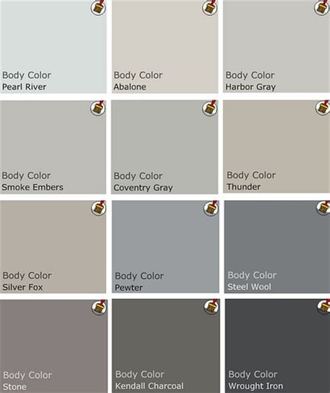 paint colors that go with grey focal point styling benjamin olioboard color