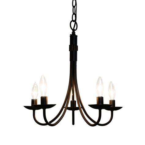 lowes chandeliers black shop artcraft lighting pot racks 5 light black chandelier