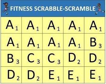 scrabble pe 270 best images about physical ed on physical