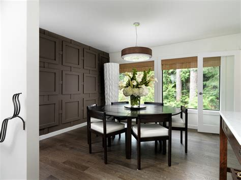 walls in dining room accent wall panel dining room contemporary with geometric