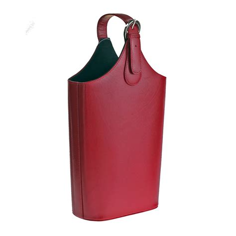 wine carrying leather carlo rossini genuine leather wine carry bag