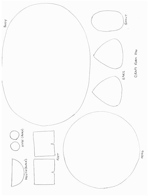 crafts templates printable animal crafts