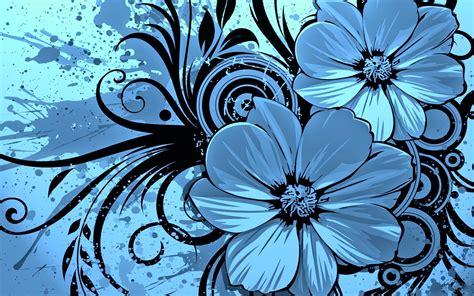 keynote blue floral template free iwork templates
