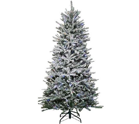 santa s best santa s best 7 5 snow flurry tree with 7 function led