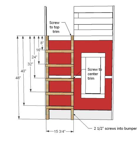 bunk bed ladder plans woodwork bunk bed ladder construction pdf plans