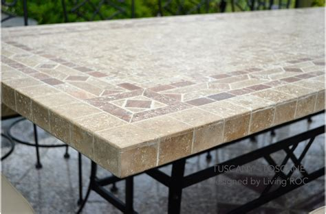 mosaic tile patio table 78 quot outdoor patio dining table italian mosaic marble