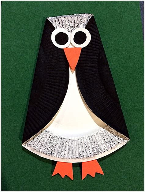 penguin paper plate craft crafty crafted crafts for children 187 penguin