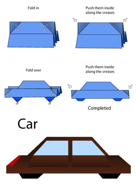 how to make a origami car how to make an origami car kidspressmagazine