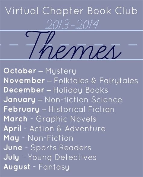 picture book themes chapter book club for book club for