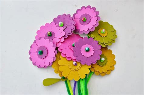 paper flowers craft snugglebug paper flower craft kit