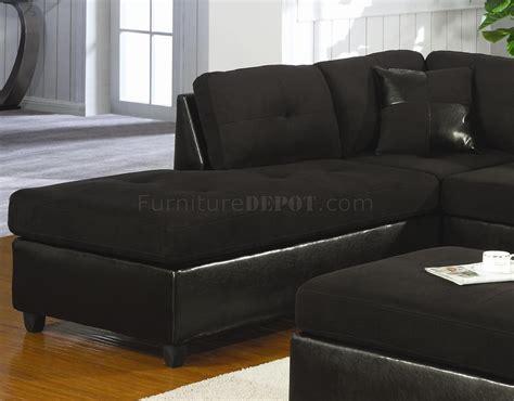 black microfiber sectional sofa microfiber faux leather contemporary sectional sofa
