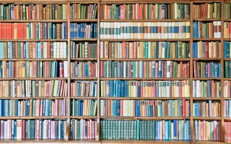 picture of bookshelf with books bookshelf filled with colorful books stokpic