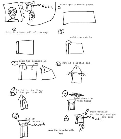 how to fold the cover origami yoda yoda origamiyoda