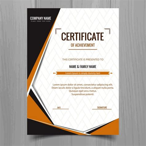 elegant geometric certificate template vector free download