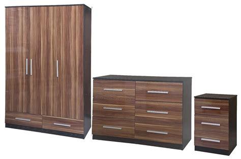 quality bedroom furniture uk new lotus high quality walnut gloss black large