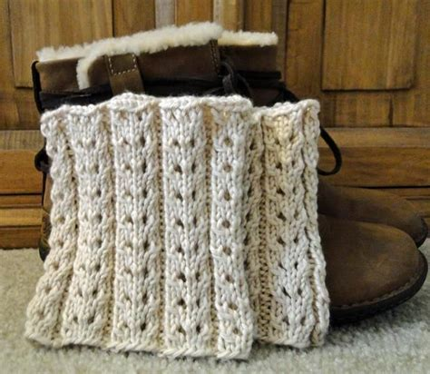 knitted boot cuffs free pattern eyelet ivory boot cuffs knitting patterns and crochet