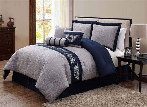 gray and blue comforter sets navy blue and grey comforter set pinteres