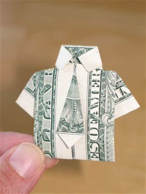origami dollar bill shirt with tie paper money origami with american dollar bills shirt