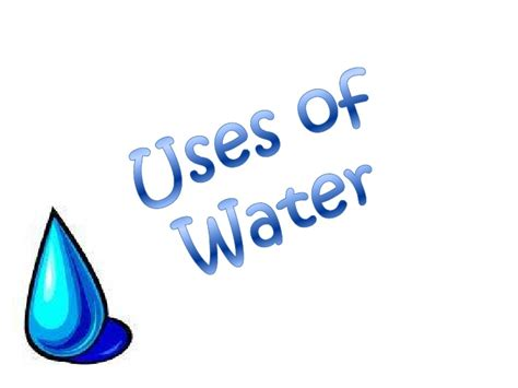 water uses how do use water resources
