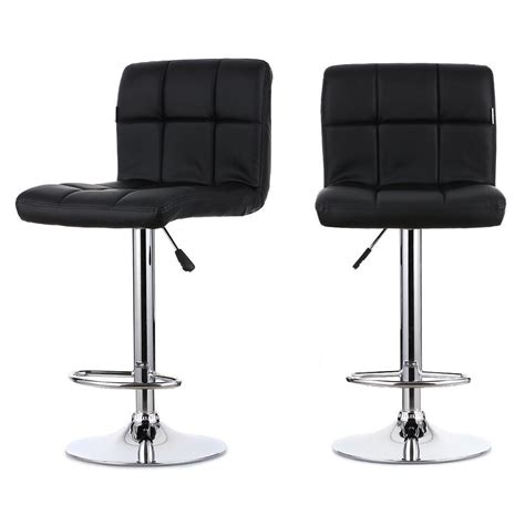 bar stool swivel chairs 2pcs pu leather swivel bar stools chairs adjustable pub