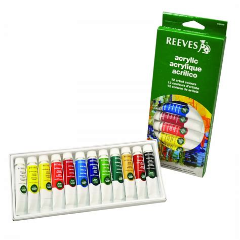 acrylic painting set acrylic paint set of 12 reeves from craftyarts co
