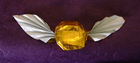 origami snitch golden snitch from harry potter farina gilad s