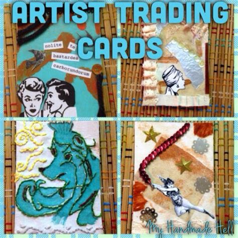 make your own trading cards my handmade hell how to make your own artist trading cards