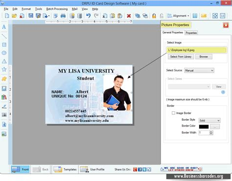id card software free id card design software generates colorful and