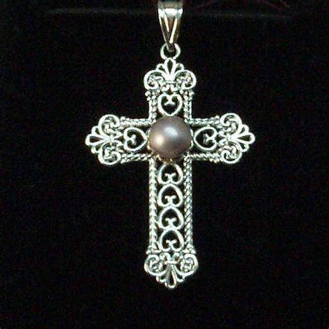 crosses for jewelry jewelry doctor 187 concho pearl cross pendant 09