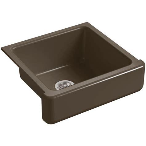 single bowl cast iron kitchen sink kohler whitehaven farmhouse apron front cast iron 24