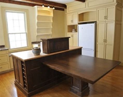 island kitchen table combo island dining table attached kitchen combo larger