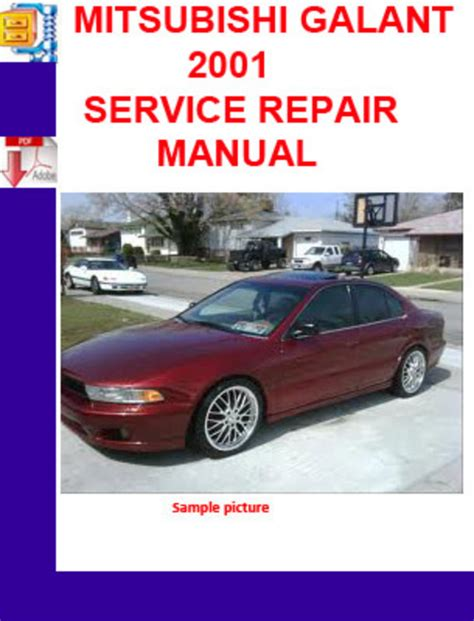 service manual service repair manual free download 2001 mitsubishi galant engine control