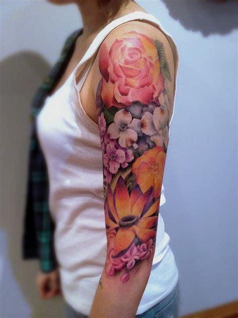 photorealistic floral sleeve pete zebley no ka oi tiki