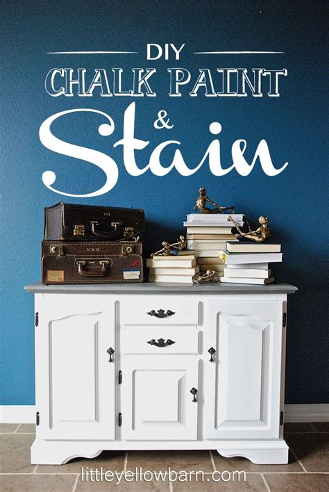 Diy Chalk Paint And Stain Tutorial On Lilluna