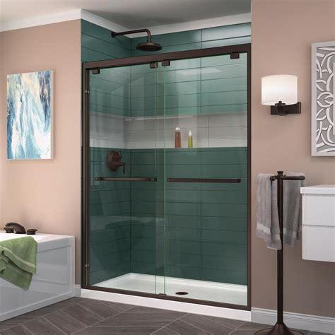 shower doors shop dreamline encore 56 in to 60 in frameless rubbed