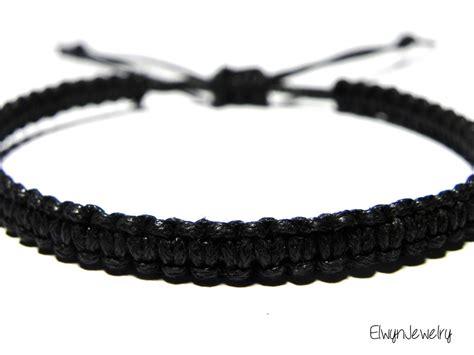 black bracelet s black bracelet black cord bracelet rope bracelet