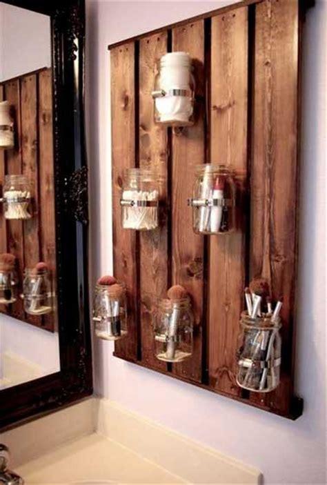 astuce rangement de salle de bain avec palette bois